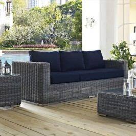 Summon Outdoor Patio Sunbrella?? Sofa in Canvas Navy