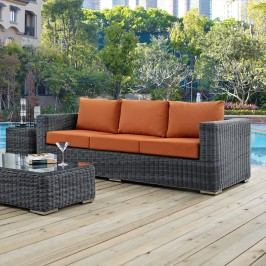 Summon Outdoor Patio Sunbrella?? Sofa in Canvas Tuscan