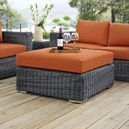 Summon Outdoor Patio Sunbrella?? Square Ottoman in Canvas Tuscan