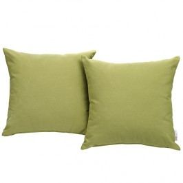 Convene Two Piece Outdoor Patio Pillow Set in Peridot