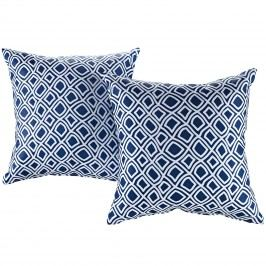 Modway Two Piece Outdoor Patio Pillow Set in Balance