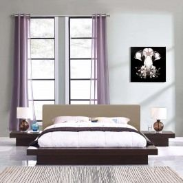 Freja 3 Piece Queen Fabric Bedroom Set in Cappuccino Latte