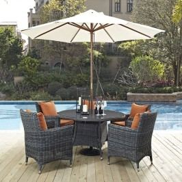 Summon 7 Piece Outdoor Patio Sunbrella?? Dining Set in Canvas Tuscan