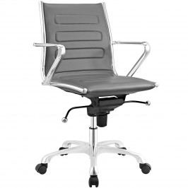 Ascend Mid Back Office Chair in Gray