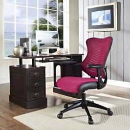 Clutch Office Chair in Burgundy