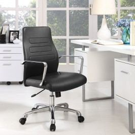 Depict Mid Back Aluminum Office Chair in Black