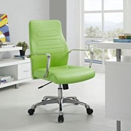 Depict Mid Back Aluminum Office Chair in Bright Green