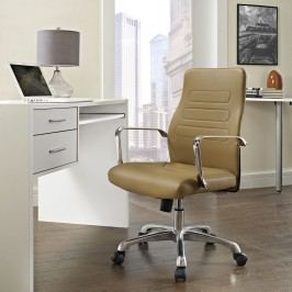 Depict Mid Back Aluminum Office Chair in Tan