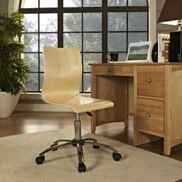 Fashion Armless Office Chair in Natural