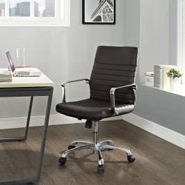 Finesse Mid Back Office Chair in Brown