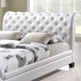 Kate Queen Vinyl Bed in White