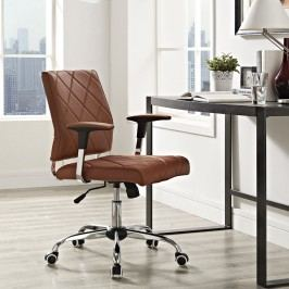 Lattice Vinyl Office Chair in Tan