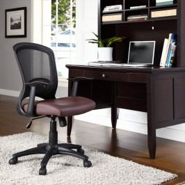 Pulse Vinyl Office Chair in Brown