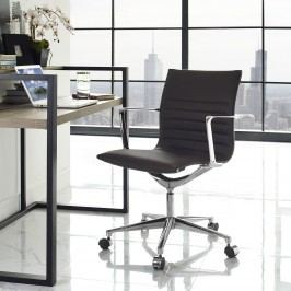 Vi Mid Back Fabric Office Chair in Brown