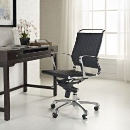 Vibe Mid Back Leather Office Chair in Black