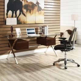 Abeyance Office Desk in Walnut