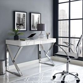 Adjacent Desk in White