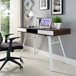 Stir Office Desk in Cherry