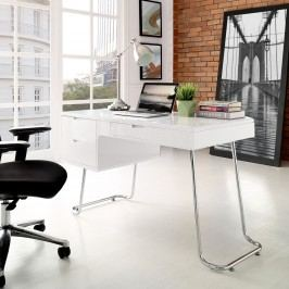 Swag Office Desk in White