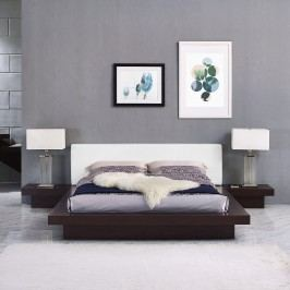 Freja 3 Piece Queen Vinyl Bedroom Set in Cappuccino White
