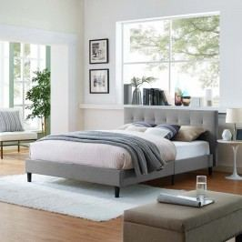 Linnea Full Bed in Light Gray
