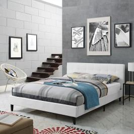 Linnea Queen Vinyl Bed in White