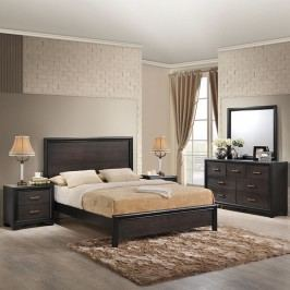 Madison 5 Piece Queen Walnut Bedroom Set in Walnut