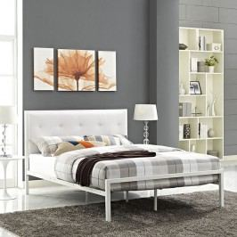 Lottie Queen Vinyl Bed in White White