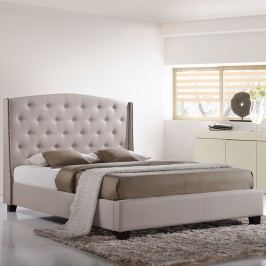Lydia Queen Bed in Beige