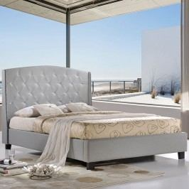Lydia Queen Bed in Sky Gray