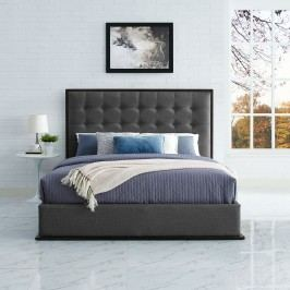 Madeline Queen Upholstered Bed Frame in Cappuccino Smoke