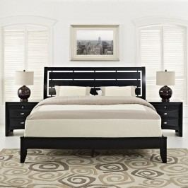 Olivia 3 Piece Queen Bedroom Set in Black