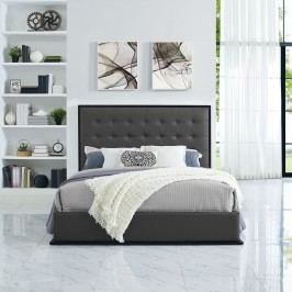 Madeline Queen Vinyl Bed Frame in Cappuccino Gray