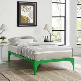 Ollie Twin Bed Frame in Green