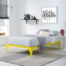 Ollie Twin Bed Frame in Yellow