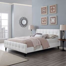 Ophelia Queen Vinyl Bed in White