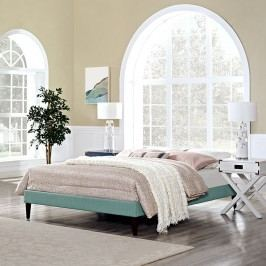 Sharon King Fabric Bed Frame with Squared Tapered Legs in Laguna