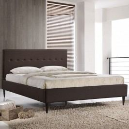 Stacy Queen Bed in Dark Brown