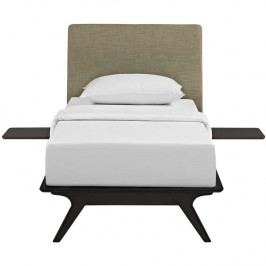 Tracy 3 Piece Twin Bedroom Set in Cappuccino Latte