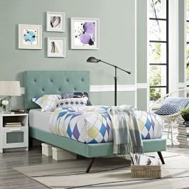 Terisa Twin Fabric Platform Bed with Round Splayed Legs in Laguna