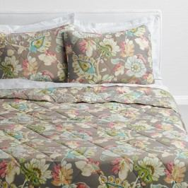 Floral Corinne Quilt: Gray - Cotton by World Market