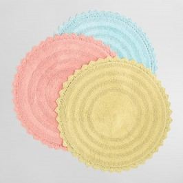 Round Cotton Bath Mat - Coral by World Market Coral