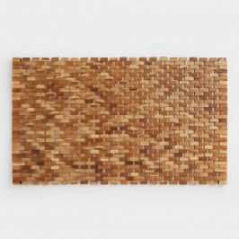 Teak Wood Bath Mat: Natural by World Market