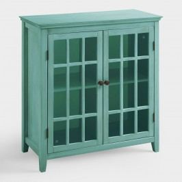Antique Turquoise Double Door Storage Cabinet by World Market