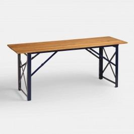 Peacoat Blue Beer Garden Outdoor Patio Dining Table - Metal  by World Market
