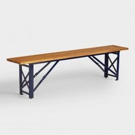 Peacoat Blue Beer Garden Outdoor Patio Dining Bench - Metal  by World Market