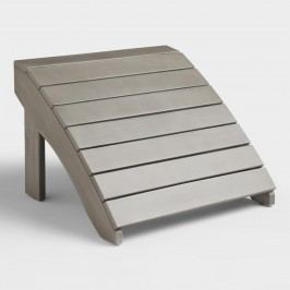 Gray Wood Adirondack Outdoor Patio Footstool by World Market