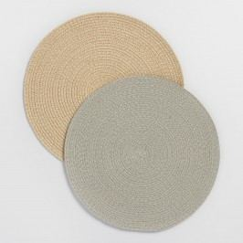 Round Braided Placemats Set of 4 - Cotton - Oatmeal by World Market Oatmeal