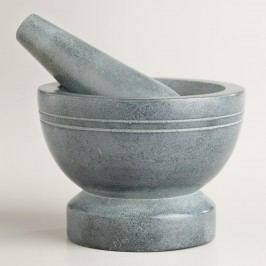 Polished Soapstone Mortar and Pestle by World Market