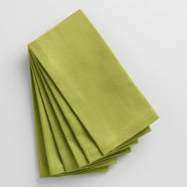 Oasis Green Buffet Napkins Set of 6 - Cotton by World Market